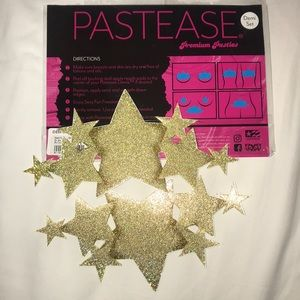 Pastease Pasties Gold Star Glitter Nipple Covers